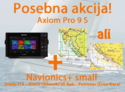 "Raymarine Axiom 9 Pro-S HybridTouch 9"" Multi-function Display sonar CHIRP Conical in CPT-S sondo z Navionics+ Small karto za prenos"
